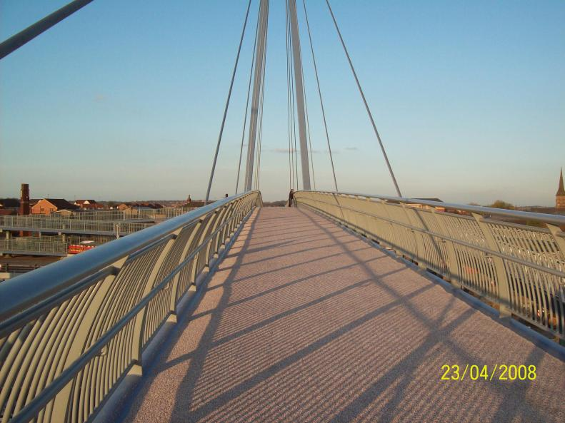 Bridge Deck with anti skid placed