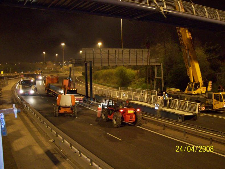 Old bridge being taken down over the 621