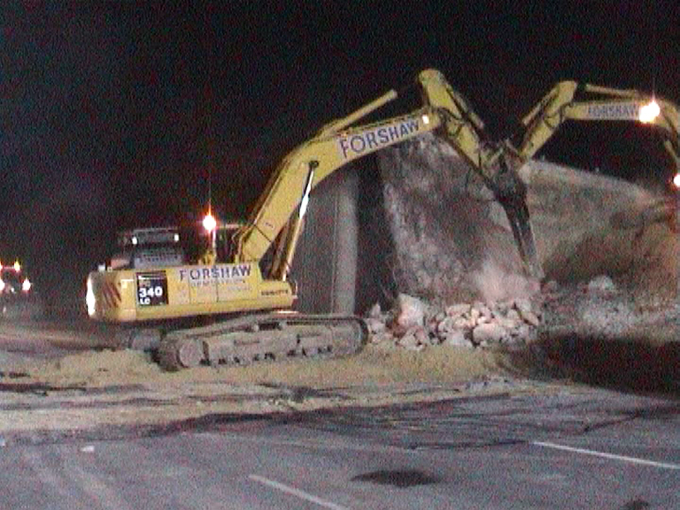 abutment being removed