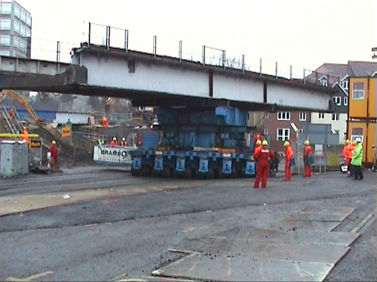 Old bridge moving into the car park