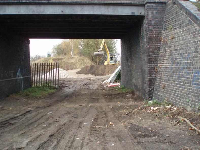 Side Span being set up for underfilling