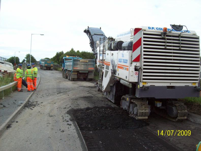Road Planner removing the old road.