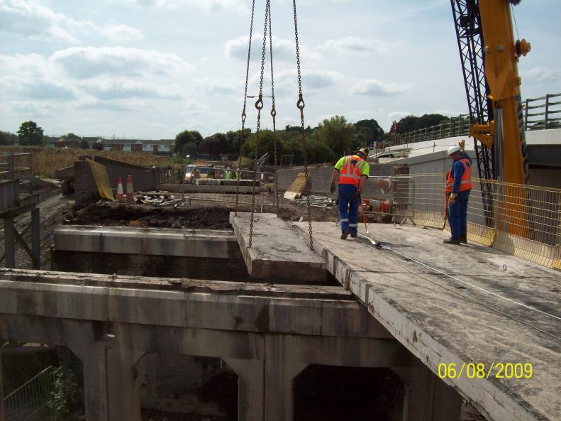 Work progressing to remove the units one at a time