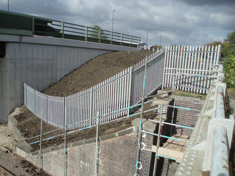 Fence installed on the North Abutment.