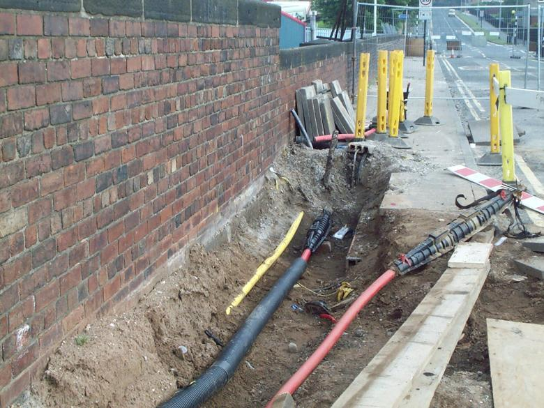 11kva Cables being diverted