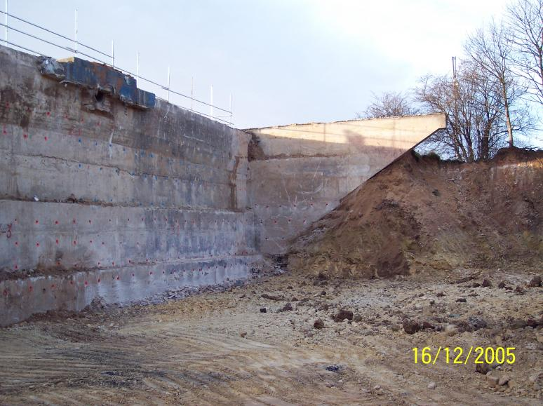 North abutment drilled and excavated