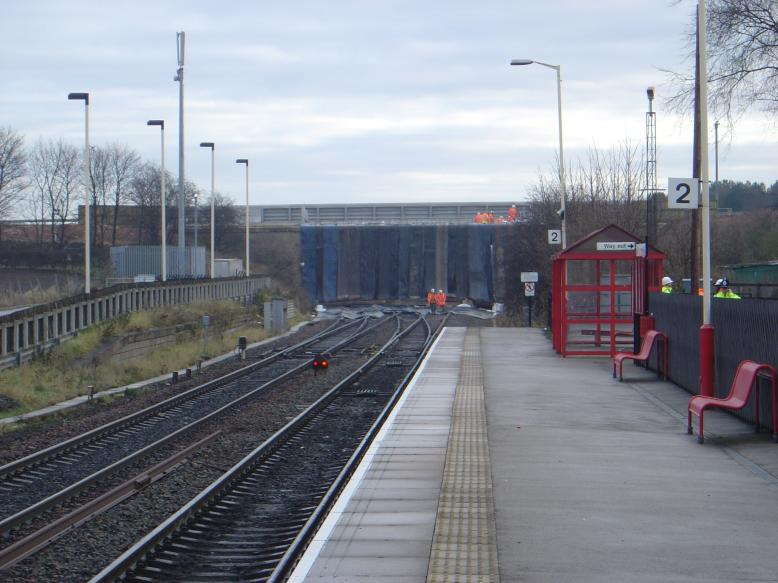 view from micklefield station