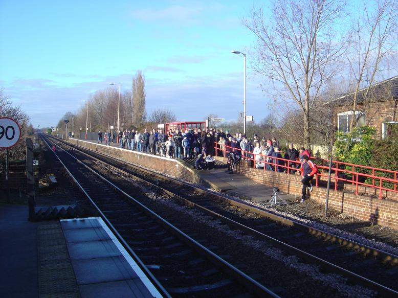 General Public on the platform to watch