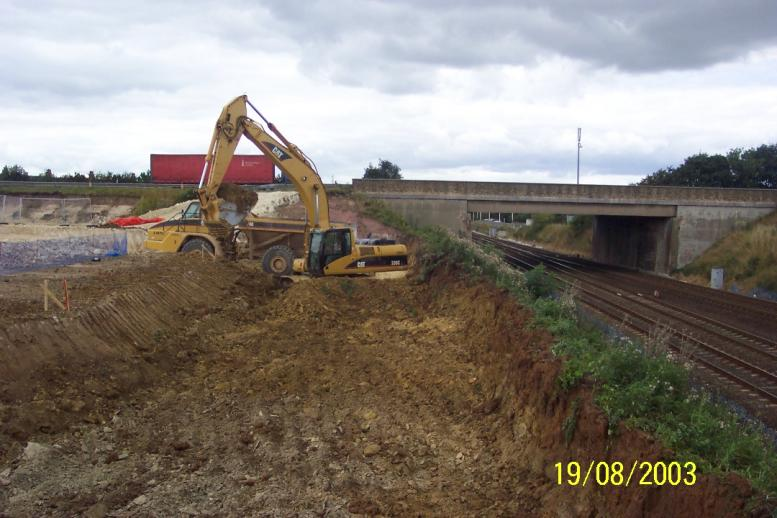 Excavation on the South abutment