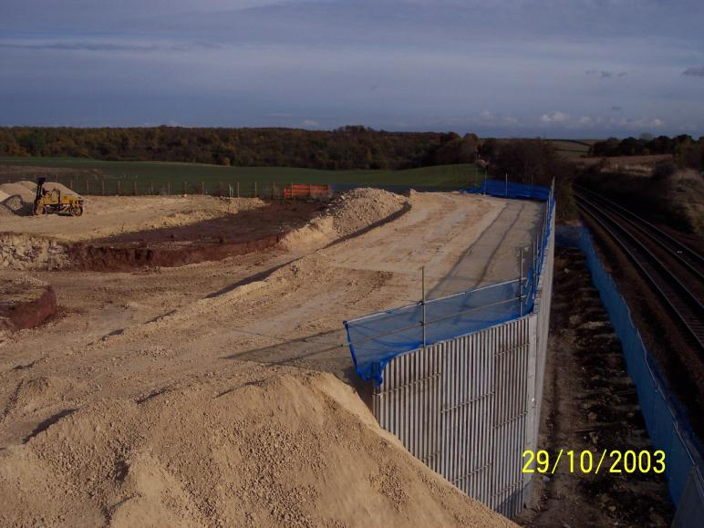 North abutment complete ready for blinding