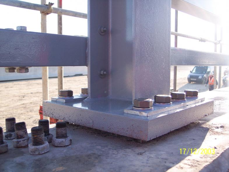 H4a parapets steel being installed by Balmer Lindley