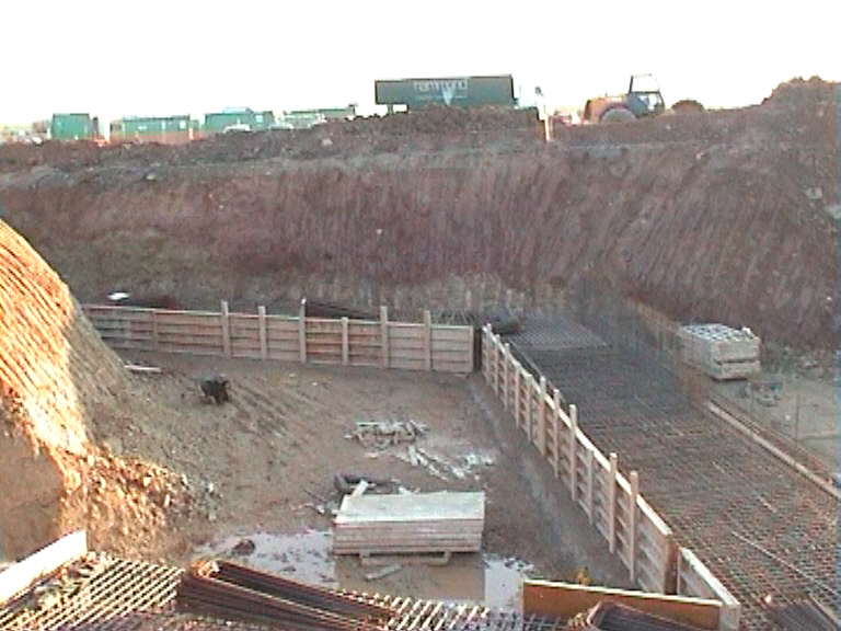 East Abutment steel fixing and formwork