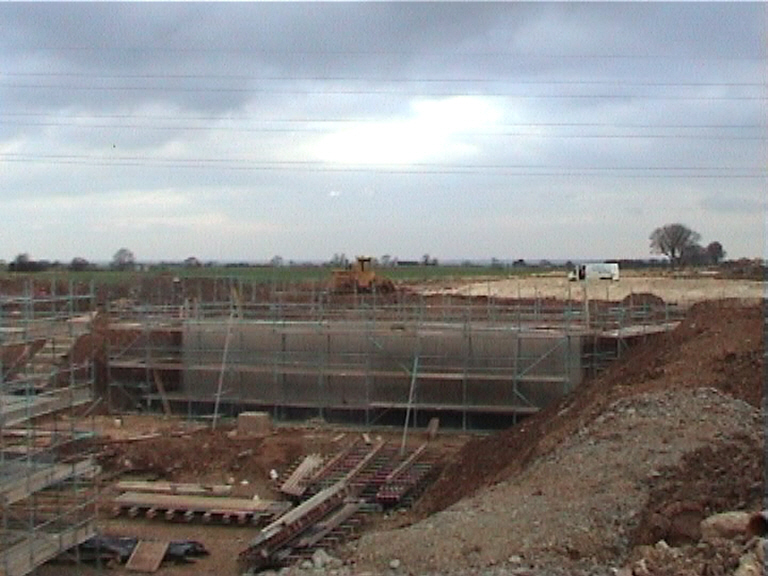 East Abutment cast with formwork removed