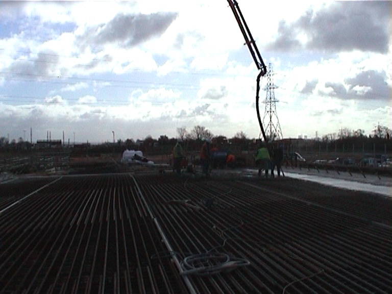 Central deck section being cast