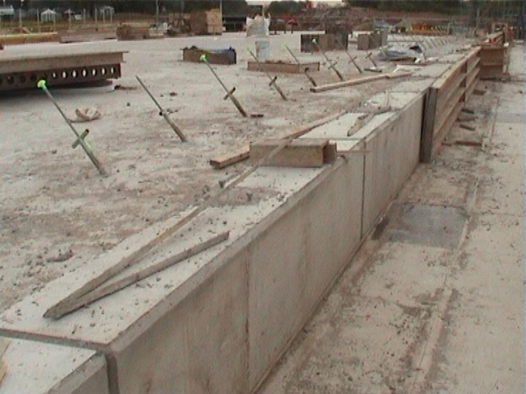 North Parapet cast and being stripped