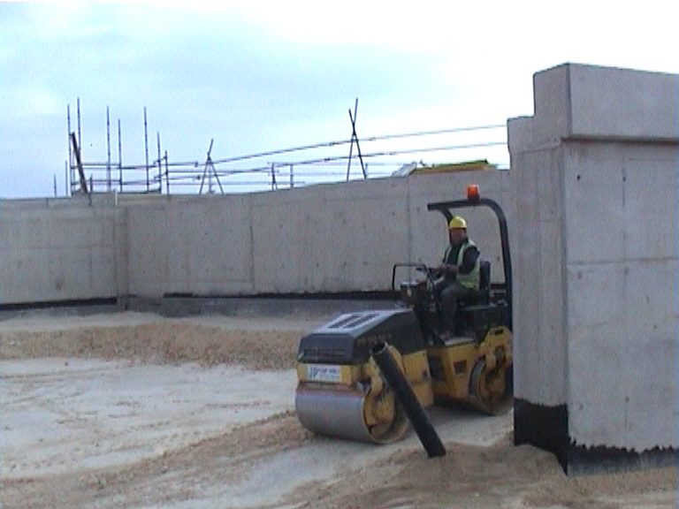 Back fill going in to the East abutment